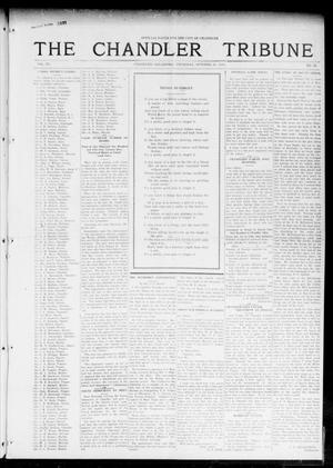 Primary view of object titled 'The Chandler Tribune (Chandler, Okla.), Vol. 15, No. 35, Ed. 1 Thursday, October 21, 1915'.