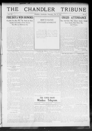Primary view of object titled 'The Chandler Tribune (Chandler, Okla.), Vol. 12, No. 11, Ed. 1 Thursday, May 16, 1912'.
