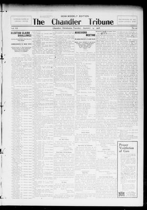 Primary view of object titled 'The Chandler Tribune (Chandler, Okla.), Vol. 7, No. 97, Ed. 1 Tuesday, January 14, 1908'.