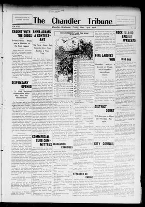 Primary view of object titled 'The Chandler Tribune (Chandler, Okla.), Vol. 8, No. 18, Ed. 1 Friday, May 15, 1908'.
