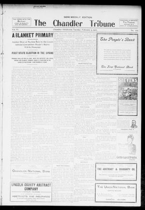 Primary view of object titled 'The Chandler Tribune (Chandler, Okla.), Vol. 6, No. 97, Ed. 1 Tuesday, February 5, 1907'.
