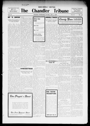 Primary view of object titled 'The Chandler Tribune (Chandler, Okla.), Vol. 6, No. 36, Ed. 1 Tuesday, July 3, 1906'.