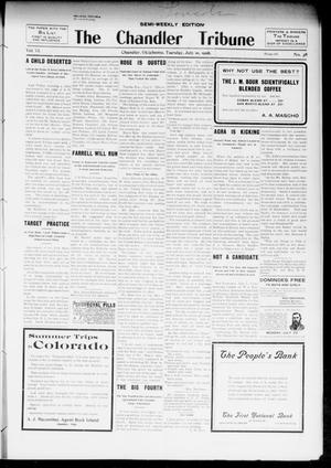 Primary view of object titled 'The Chandler Tribune (Chandler, Okla.), Vol. 6, No. 38, Ed. 1 Tuesday, July 10, 1906'.