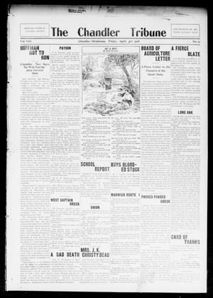 Primary view of object titled 'The Chandler Tribune (Chandler, Okla.), Vol. 8, No. 12, Ed. 1 Friday, April 3, 1908'.