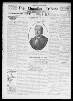 Primary view of object titled 'The Chandler Tribune (Chandler, Okla.), Vol. 7, No. 60, Ed. 1 Tuesday, September 3, 1907'.