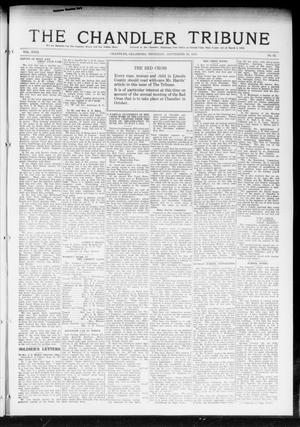 Primary view of object titled 'The Chandler Tribune (Chandler, Okla.), Vol. 18, No. 32, Ed. 1 Thursday, September 26, 1918'.