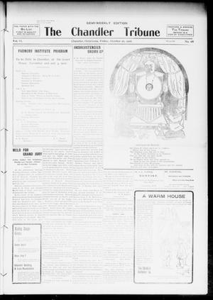 Primary view of object titled 'The Chandler Tribune (Chandler, Okla.), Vol. 6, No. 69, Ed. 1 Friday, October 26, 1906'.
