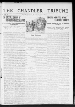 Primary view of object titled 'The Chandler Tribune (Chandler, Okla.), Vol. 11, No. 30, Ed. 1 Thursday, September 28, 1911'.