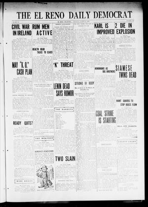 Primary view of object titled 'The El Reno Daily Democrat (El Reno, Okla.), Vol. 31, No. 190, Ed. 1 Thursday, March 30, 1922'.