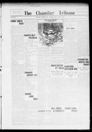 Primary view of object titled 'The Chandler Tribune (Chandler, Okla.), Vol. 8, No. [24], Ed. 1 Friday, June 26, 1908'.