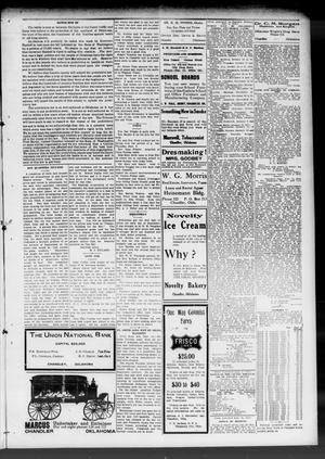 Primary view of object titled 'The Chandler Tribune (Chandler, Okla.), Vol. 10, No. 24, Ed. 1 Friday, September 16, 1910'.