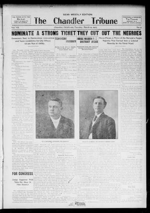 Primary view of object titled 'The Chandler Tribune (Chandler, Okla.), Vol. 7, No. 9, Ed. 1 Tuesday, March 19, 1907'.