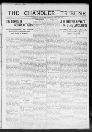 Primary view of object titled 'The Chandler Tribune (Chandler, Okla.), Vol. 12, No. 45, Ed. 1 Thursday, January 9, 1913'.