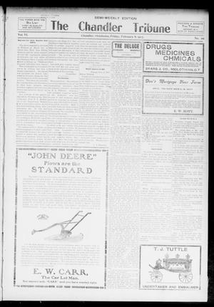 Primary view of object titled 'The Chandler Tribune (Chandler, Okla.), Vol. 6, No. 98, Ed. 1 Friday, February 8, 1907'.