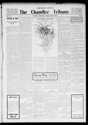 Primary view of object titled 'The Chandler Tribune (Chandler, Okla.), Vol. 7, No. 40, Ed. 1 Tuesday, June 25, 1907'.