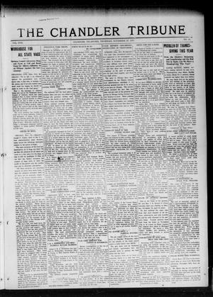 Primary view of object titled 'The Chandler Tribune (Chandler, Okla.), Vol. 17, No. 41, Ed. 1 Thursday, November 29, 1917'.