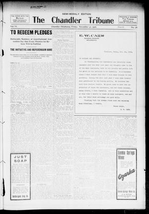 Primary view of object titled 'The Chandler Tribune (Chandler, Okla.), Vol. 6, No. 79, Ed. 1 Friday, November 30, 1906'.