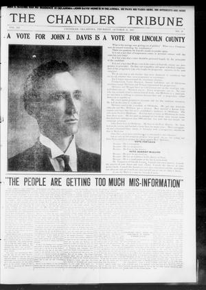 Primary view of object titled 'The Chandler Tribune (Chandler, Okla.), Vol. 12, No. 35, Ed. 1 Thursday, October 31, 1912'.