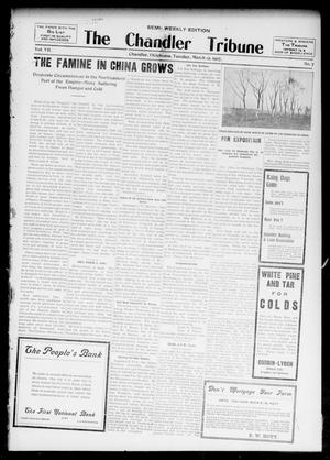 Primary view of object titled 'The Chandler Tribune (Chandler, Okla.), Vol. 7, No. 7, Ed. 1 Tuesday, March 12, 1907'.