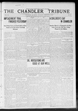 Primary view of object titled 'The Chandler Tribune (Chandler, Okla.), Vol. 12, No. 52, Ed. 1 Thursday, February 27, 1913'.