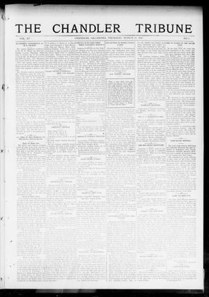 Primary view of object titled 'The Chandler Tribune (Chandler, Okla.), Vol. 15, No. 5, Ed. 1 Thursday, March 25, 1915'.