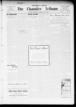 Primary view of object titled 'The Chandler Tribune (Chandler, Okla.), Vol. 6, No. 44, Ed. 1 Tuesday, July 31, 1906'.