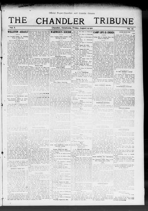 Primary view of object titled 'The Chandler Tribune (Chandler, Okla.), Vol. 10, No. 20, Ed. 1 Friday, August 19, 1910'.