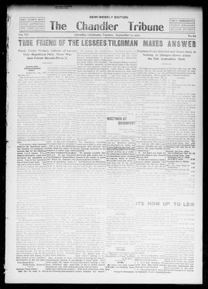Primary view of object titled 'The Chandler Tribune (Chandler, Okla.), Vol. 7, No. 62, Ed. 1 Tuesday, September 10, 1907'.