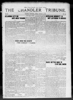 Primary view of object titled 'The Chandler Tribune. (Chandler, Okla.), Vol. 9, No. 43, Ed. 1 Friday, February 4, 1910'.