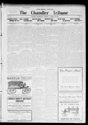 Primary view of object titled 'The Chandler Tribune (Chandler, Okla.), Vol. 7, No. 101, Ed. 1 Tuesday, January 28, 1908'.