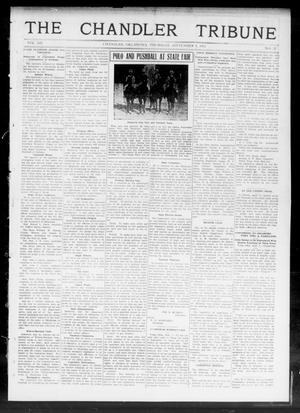 Primary view of object titled 'The Chandler Tribune (Chandler, Okla.), Vol. 12, No. 27, Ed. 1 Thursday, September 5, 1912'.