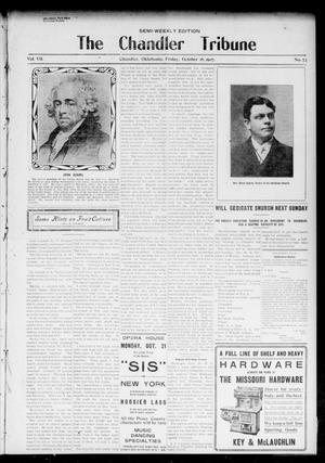 Primary view of object titled 'The Chandler Tribune (Chandler, Okla.), Vol. 7, No. 73, Ed. 1 Friday, October 18, 1907'.