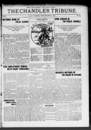 Primary view of object titled 'The Chandler Tribune. (Chandler, Okla.), Vol. 9, No. 41, Ed. 1 Friday, December 17, 1909'.