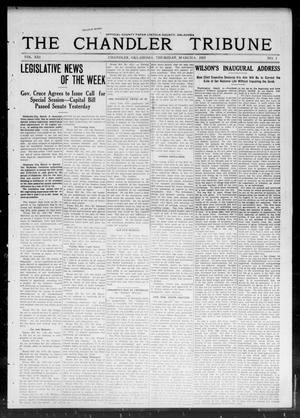 Primary view of object titled 'The Chandler Tribune (Chandler, Okla.), Vol. 13, No. 1, Ed. 1 Thursday, March 6, 1913'.