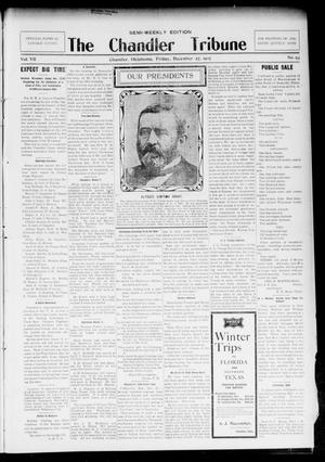 Primary view of object titled 'The Chandler Tribune (Chandler, Okla.), Vol. 7, No. 93, Ed. 1 Friday, December 27, 1907'.