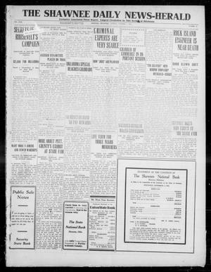 Primary view of object titled 'The Shawnee Daily News-Herald (Shawnee, Okla.), Vol. 17, No. 51, Ed. 1 Tuesday, October 1, 1912'.