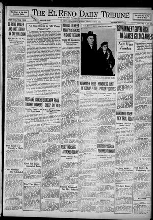 Primary view of object titled 'The El Reno Daily Tribune (El Reno, Okla.), Vol. 43, No. 262, Ed. 1 Monday, February 18, 1935'.