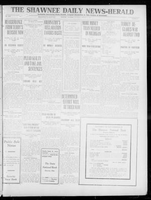 Primary view of object titled 'The Shawnee Daily News-Herald (Shawnee, Okla.), Vol. 17, No. 64, Ed. 1 Thursday, October 17, 1912'.