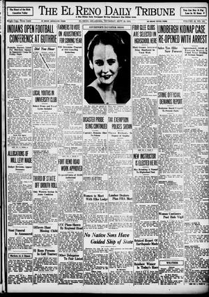 Primary view of object titled 'The El Reno Daily Tribune (El Reno, Okla.), Vol. 43, No. 141, Ed. 1 Thursday, September 20, 1934'.