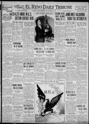 Primary view of object titled 'The El Reno Daily Tribune (El Reno, Okla.), Vol. 42, No. 195, Ed. 1 Monday, October 16, 1933'.