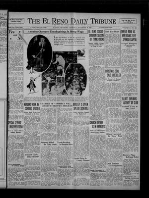 Primary view of object titled 'The El Reno Daily Tribune (El Reno, Okla.), Vol. 45, No. 229, Ed. 1 Thursday, November 26, 1936'.