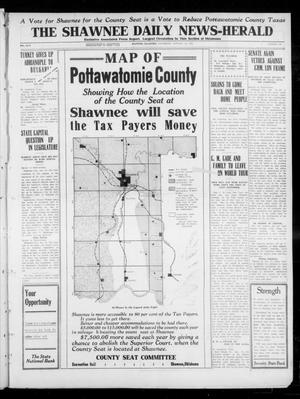 Primary view of object titled 'The Shawnee Daily News-Herald (Shawnee, Okla.), Vol. 17, No. 132, Ed. 1 Wednesday, January 22, 1913'.