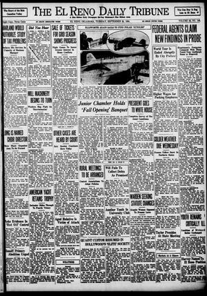 Primary view of object titled 'The El Reno Daily Tribune (El Reno, Okla.), Vol. 43, No. 146, Ed. 1 Tuesday, September 25, 1934'.