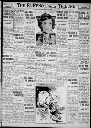 Primary view of object titled 'The El Reno Daily Tribune (El Reno, Okla.), Vol. 42, No. 11, Ed. 1 Tuesday, February 14, 1933'.