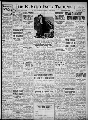 Primary view of object titled 'The El Reno Daily Tribune (El Reno, Okla.), Vol. 43, No. 34, Ed. 1 Thursday, April 12, 1934'.