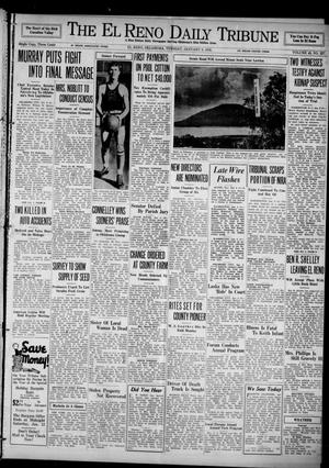 Primary view of object titled 'The El Reno Daily Tribune (El Reno, Okla.), Vol. 43, No. 227, Ed. 1 Tuesday, January 8, 1935'.