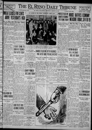 Primary view of object titled 'The El Reno Daily Tribune (El Reno, Okla.), Vol. 42, No. 37, Ed. 1 Thursday, March 16, 1933'.
