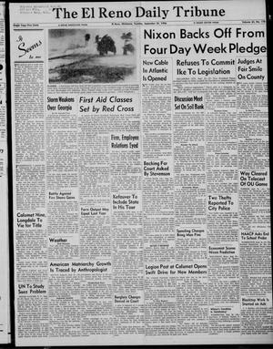 Primary view of object titled 'The El Reno Daily Tribune (El Reno, Okla.), Vol. 65, No. 178, Ed. 1 Tuesday, September 25, 1956'.