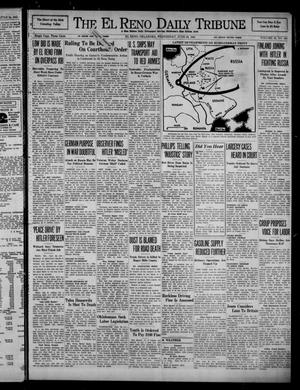 Primary view of object titled 'The El Reno Daily Tribune (El Reno, Okla.), Vol. 50, No. 100, Ed. 1 Wednesday, June 25, 1941'.