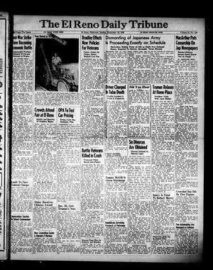 Primary view of object titled 'The El Reno Daily Tribune (El Reno, Okla.), Vol. 54, No. 169, Ed. 1 Sunday, September 16, 1945'.